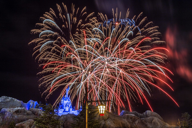 Fireworks Friday:  Wishes Over the Beast's Castle
