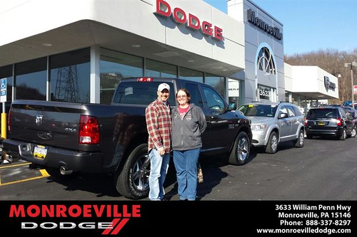 Thank you to Audrey & Demon Nicodemis on your new 2014 #Ram #1500 from Jarred  Terrell and everyone at Monroeville Dodge! by Monroeville Dodge
