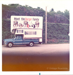 Vintage A&W Burger Family billboard