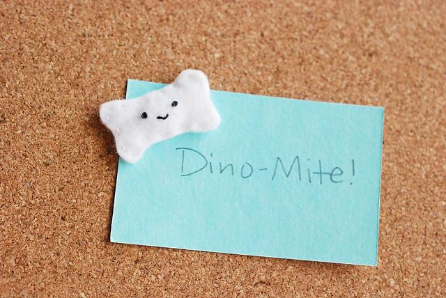 Felt Dino Bone Thumbtack