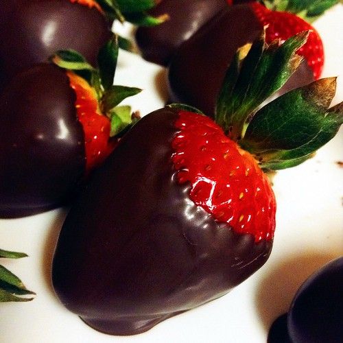 Yummy chocolate covered strawberries.