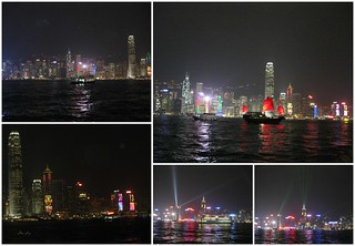 Victoria Harbour at night and the Symphony of Lights show