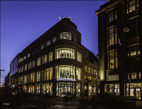 Marks & Spencer in blue hour