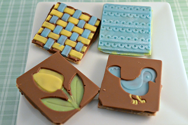 sweet creations chocolate covered graham crackers tulip twitter bird