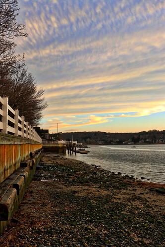 park sunset ny newyork water suffolk rocks huntington seawall coldspringharbor billyjoelpark