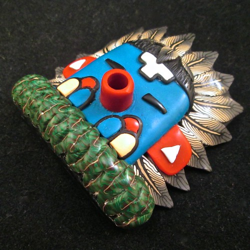 Morning Singer Kachina Mask/Bracelet tile/Pendant