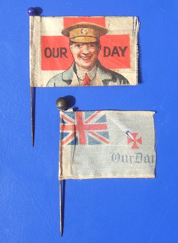 Our Day (Red Cross) - fundraising pin flags (c.1915)