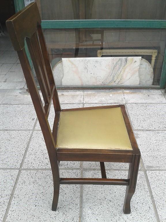 Silla de cedro muy antigua estilo ingl s asiento tapizado - Tapizado de sillas antiguas ...