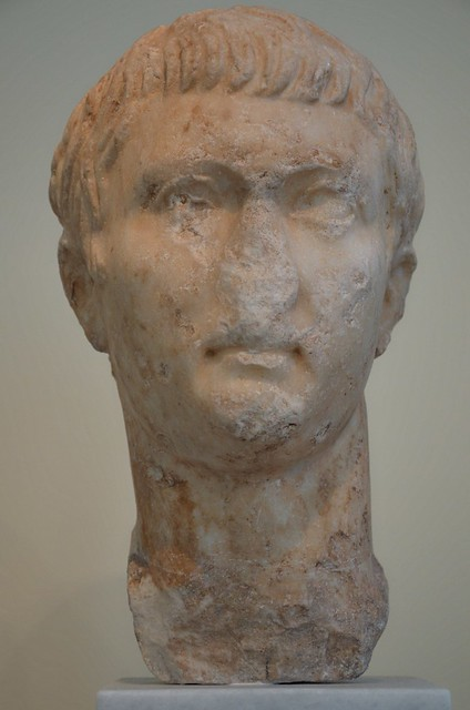 Portrait head of Drusus the Younger (13 BC - AD 23), son of Tiberius, found in the Roman Agora of Athens, National Archaeological Museum of Athens