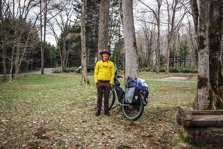 Cycle touring in Yuni, Hokkaido, Japan