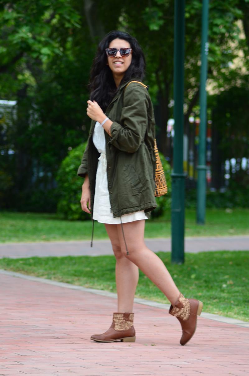 florenciablog green parka zara stradivarius look beig bolso hippie mochila gandia fashion style (13)