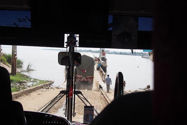 Neak Loeung ferry to Phnom Penh, Cambodia