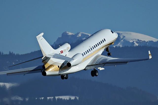 HB-JFN, Dassault Falcon 7X, @ LSZB