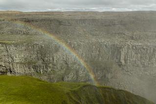 Rainbow at the Dettifoss waterfall