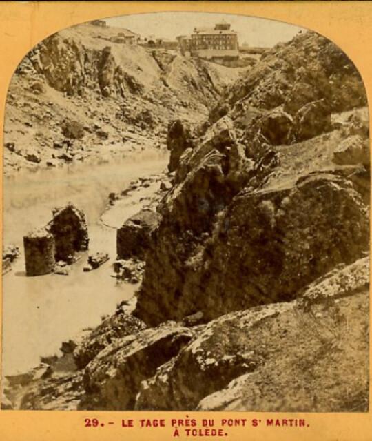 Roca Tarpeya y Tajo en 1863. Fotografía de Ernest Lamy