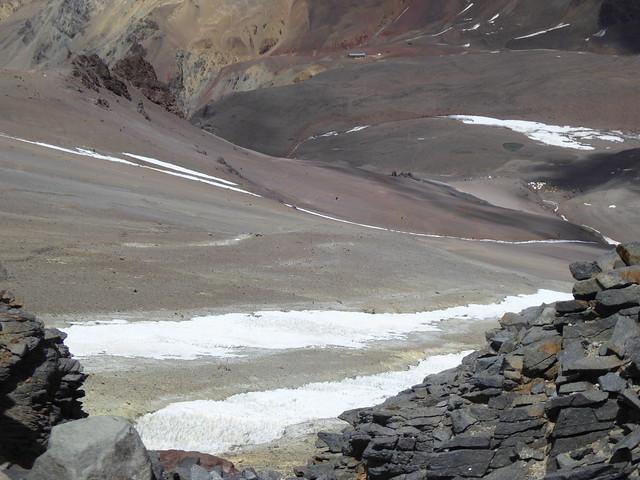 Between Camp Canada and Nido de Condores, Aconcagua