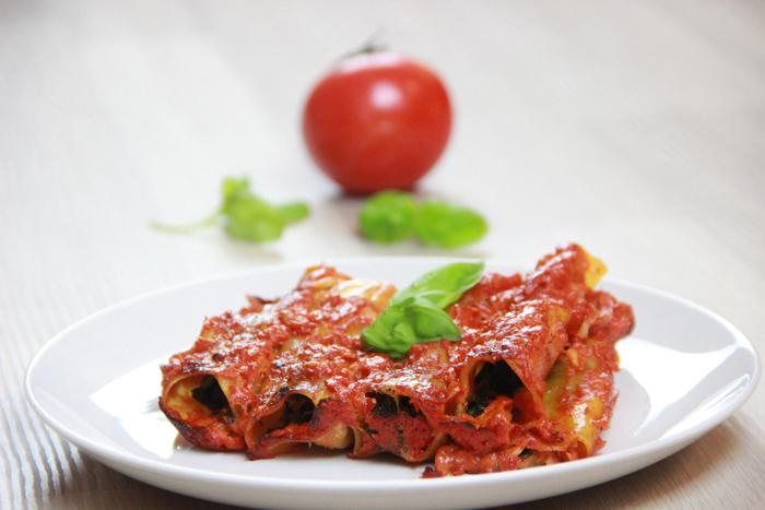 Veggie Spinat Mozarella Canelloni 05