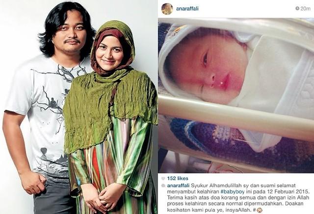 Ana Raffali Timang Baby Lelaki