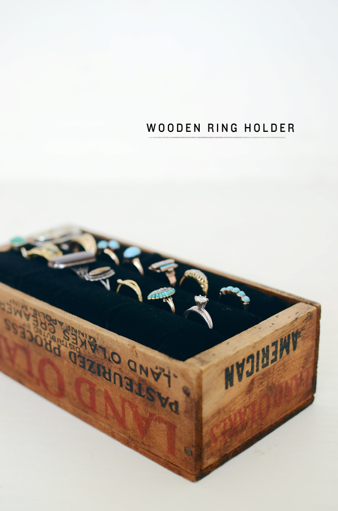wooden ring holder