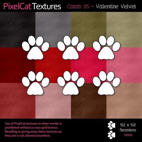 PixelCat Textures - Colab 115 - Valentine Velvet