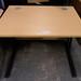 Oak laminate straight desk