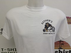 t-shirt printing for Esthers Sheet metal