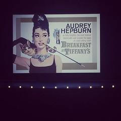 Breakfast at Tiffany\'s at the Garneau Theatre :heart_eyes::ring::blush: @themetrocinema #yeg #theatre #yegevents #audreyhepburn #classicmovies #blackdress #beanaudrey