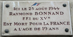 Photo of Raymond Bonnard marble plaque