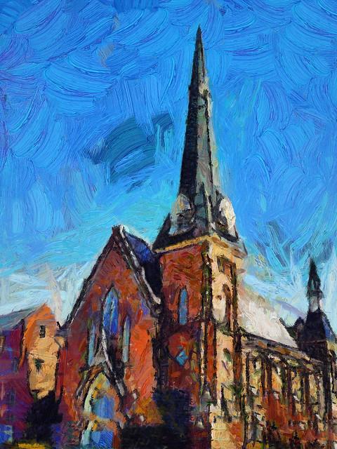 Goshen Methodist Church Gogh HD