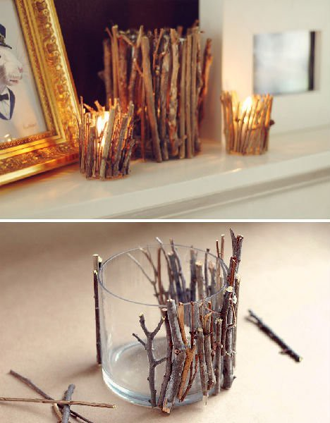 Fantastic and Very Easy to Make Candle Holder to Make with Twigs and Create Beautiful Ambiance