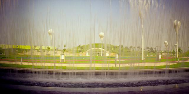 Lomography Oxygen Park Through Waterfall