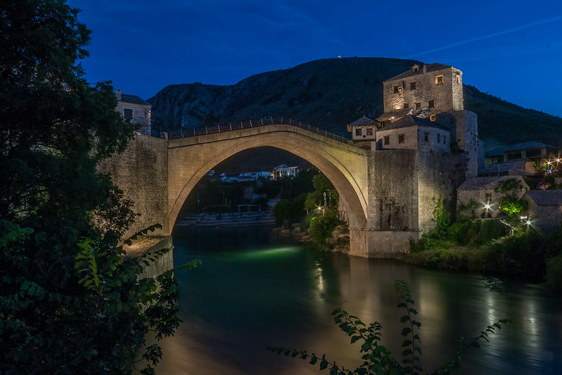 Stari Most Bridge, Mostar - at night