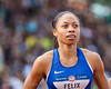 Allyson Felix places second in heat three of the Women's 200 meter semi-finals on Saturday July 9, 2016 at the US Olympic Trials at Hayward Field in Eugene, Ore. (photo/Liz Copan)