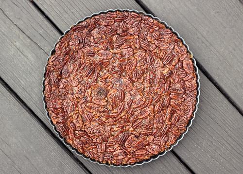 Grain-free Maple Bourbon Pecan Tart - Gluten-free + Dairy-free