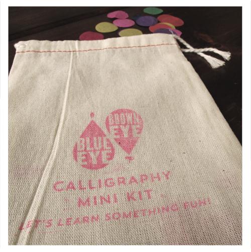 Calligraphy Mini Kit from Blue Eye Brown Eye