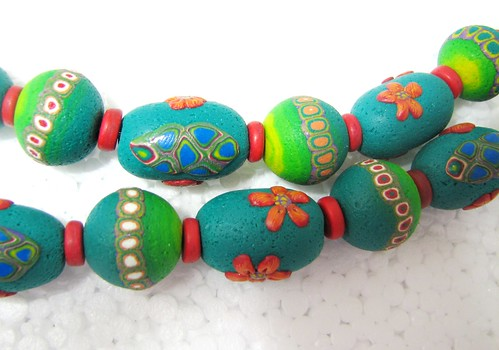 Polymer Clay Ethnic Style Necklace - part