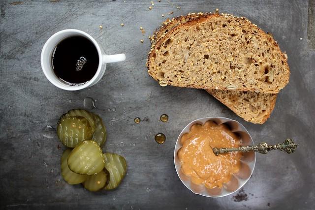 Peanut Butter + Pickle Sandwich