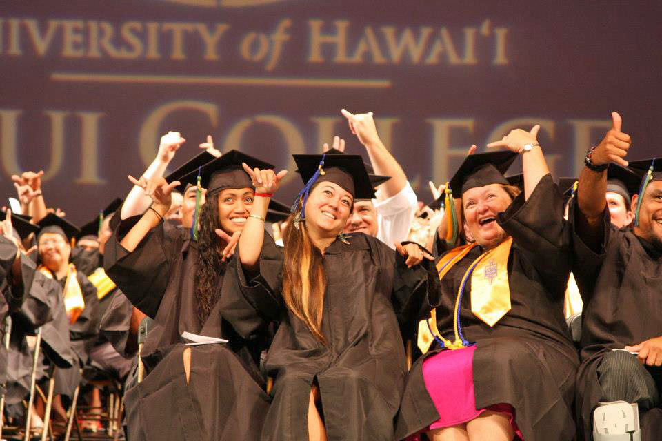 """<p>UH Maui College spring graduates. May 12, 2013<br /> <br /> View more photos on their Facebook page at <a href=""""http://www.facebook.com/UHMauiCollege"""" rel=""""nofollow"""">www.facebook.com/UHMauiCollege</a></p>"""