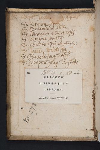 Manuscript notes in Thomas à Kempis: Imitatio Christi