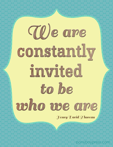 Invite to be who we are printable 8x10