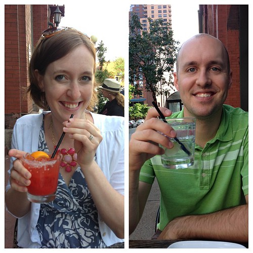 Pre-dinner drinks! Welcome to your 30s, husband