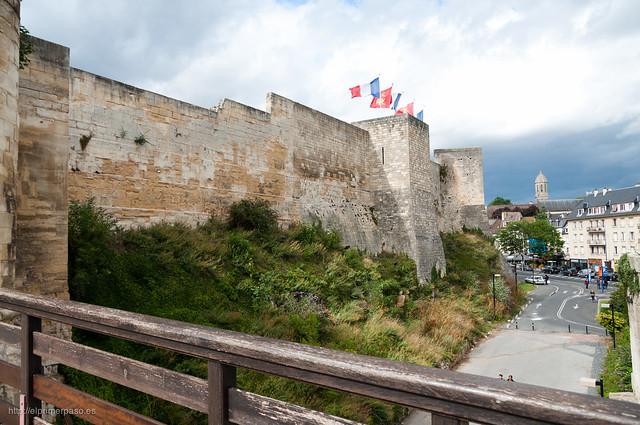 Muralla del castillo de Caen