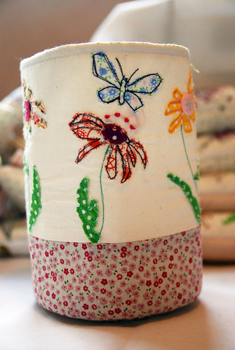 Flower Fabric Pot by Once upon a time in the north