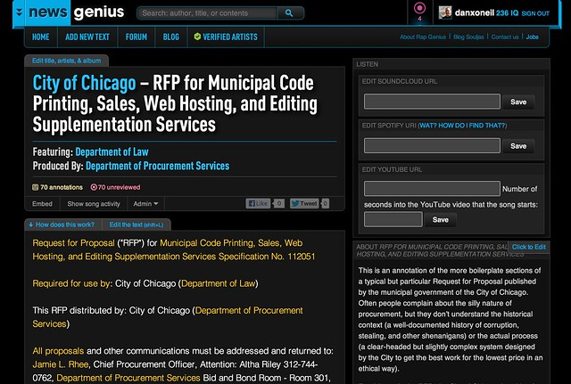 City of Chicago – RFP for Municipal Code Printing, Sales, Web Hosting, and Editing Supplementation Services
