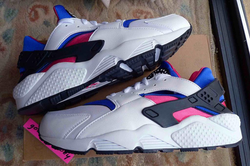 d0dfb6c7c211 ... Nike Air Huarache  White   Game Royal - Dynamic Pink  (318429 146)