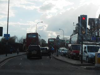 Dans le trafic londonien ! (Photo de Fred)