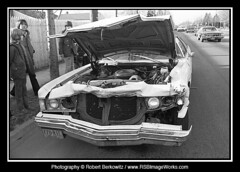 1974-04 - Car Accident, South Oyster Bay Road, Hicksville, NY