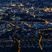 Zürich at night aerial view