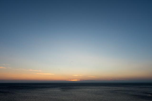 礼文島 桃岩荘からの日没