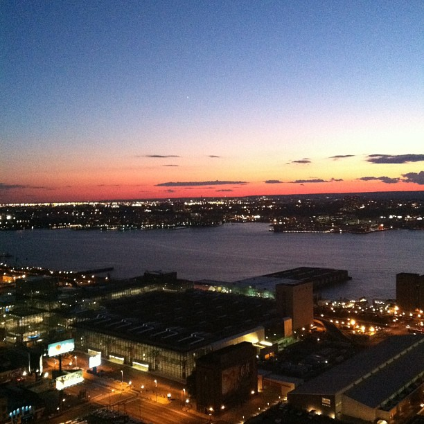 Sunset over the Hudson #nyc #newyork #hellskitchen #hudsonriver